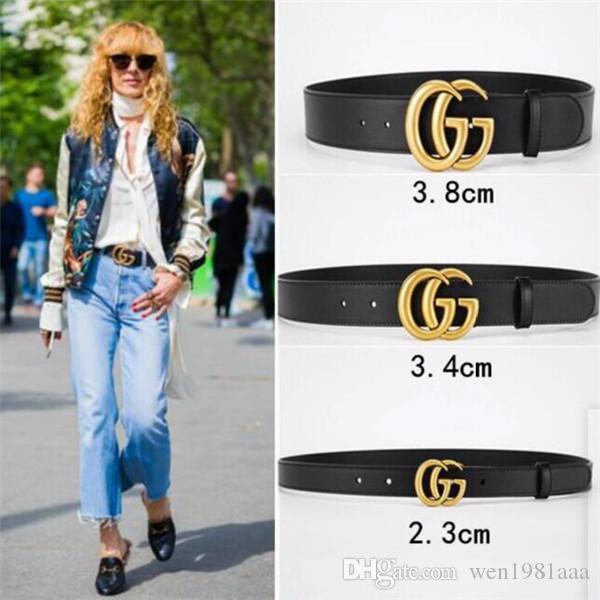 Heiße 2020 klassische Schwarz Luxuxqualitäts ceinture Designer Gürtel Mode große Perle Schnallengurt Frauen der Männer Gurt frei shipping014