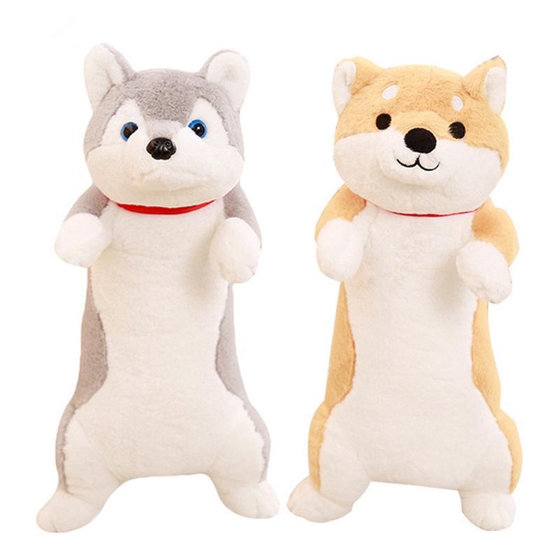 Kawaii animal shiba inu peluche juguetes grande suave lindo perro husky perrito de felpa dibujos animados animal muñeca para niños regalo de bebé 39 pulgadas 100 cm DY50279