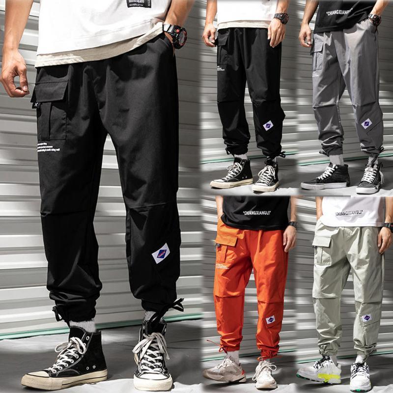 Uomo Casual Fashion Hallen allentato puro pantaloni di colore All'aperto Sport Tuta lunghi pantalones hombre Calca Masculina W102