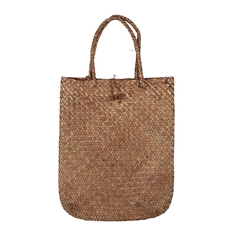 Kadınlar Moda Dantel Çanta Bez Çanta Çanta Hasır Rattan Çanta Omuz Çantası Alışveriş Straw