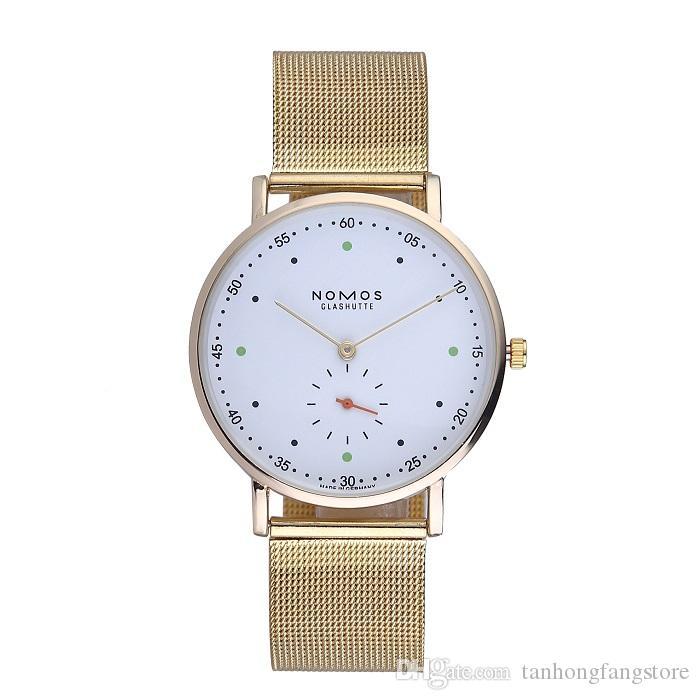 최신 스타일 핫 세일 여성용 남자 쿼츠 시계 atmos 시계 스테인레스 스틸 메쉬 시계는 몽블랑 남자 럭셔리 시계 Nomos 손목 시계