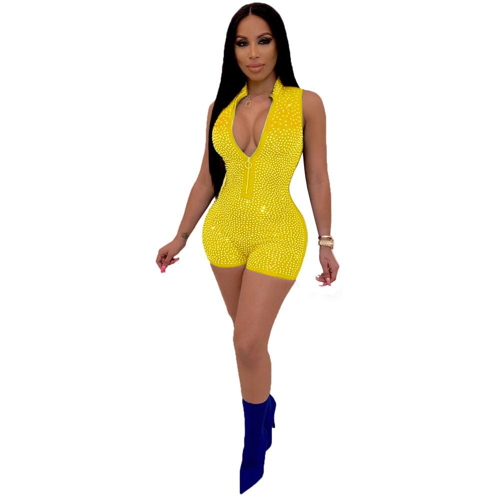 Ym-Popular Foreign Trade Womens Sleeveless Hot Brick Casual Jumpsuit Casual Nightclub