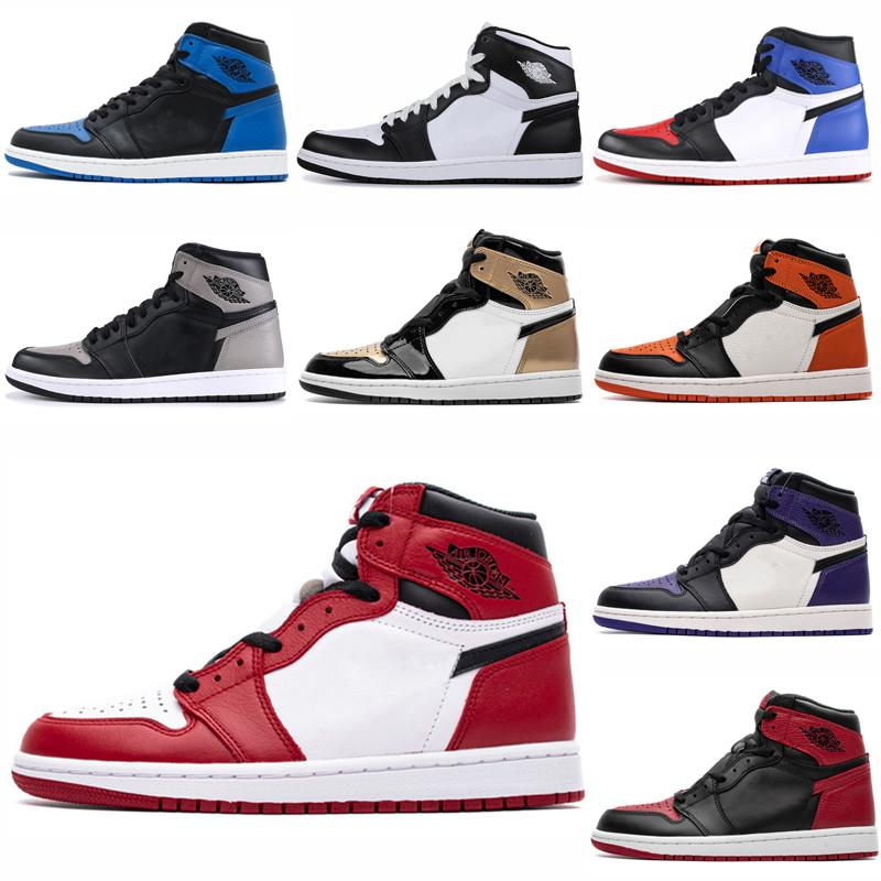 Nike Air Jordan 1 Hot Marca Jumpman 1 tênis de basquete Sneakers Atletismo Sapata Running Para a linha Sports Torch Hare Jogo Royal Green Court Pine