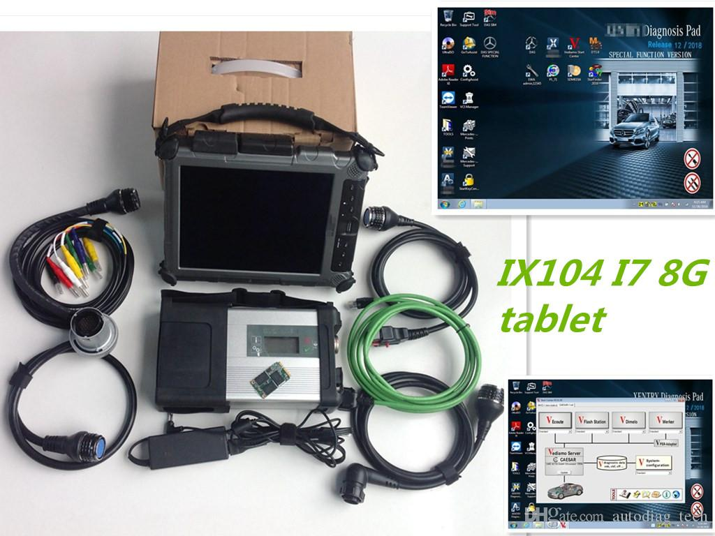 Super star diagnostic tool for m-ecerdes mb star c5 with laptop ix104 i7cpu 8G tablet with 480GB MINI SSD 2019.05v support HHT