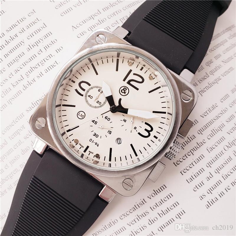3A 2020 hot sale high quality fashion quartz watch men large dial brand designer men quartz military watch hand 40mm casual watch