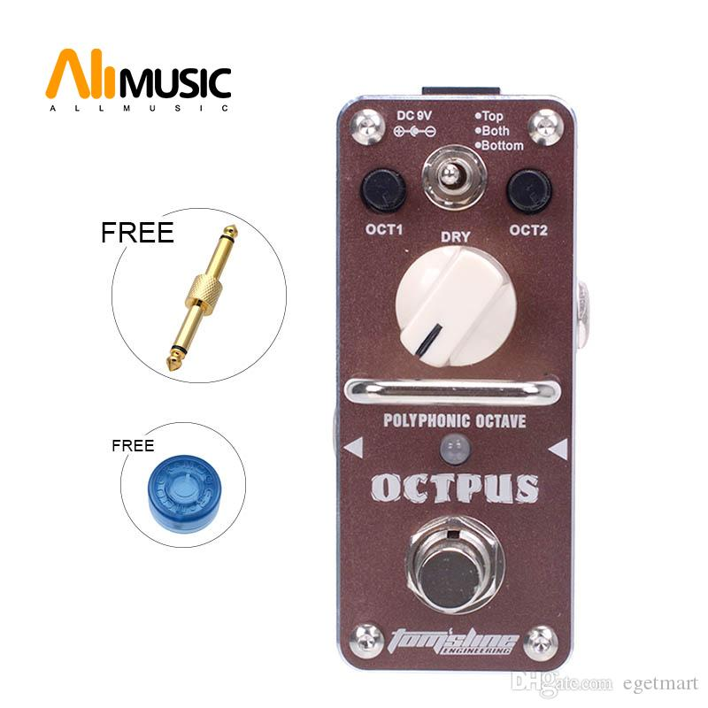 New AROMA AOS-3 OCTPUS 1 Octave Polyphonic Effect Mini Digital Effect True Bypass+Free Connector