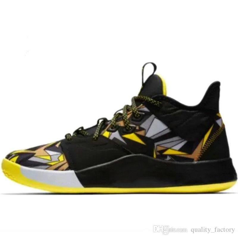 2019 sapatos Mentalidade Nova PG 3 Black Mamba para vendas frete grátis New tênis de basquete PG3 Com Box US7-US12