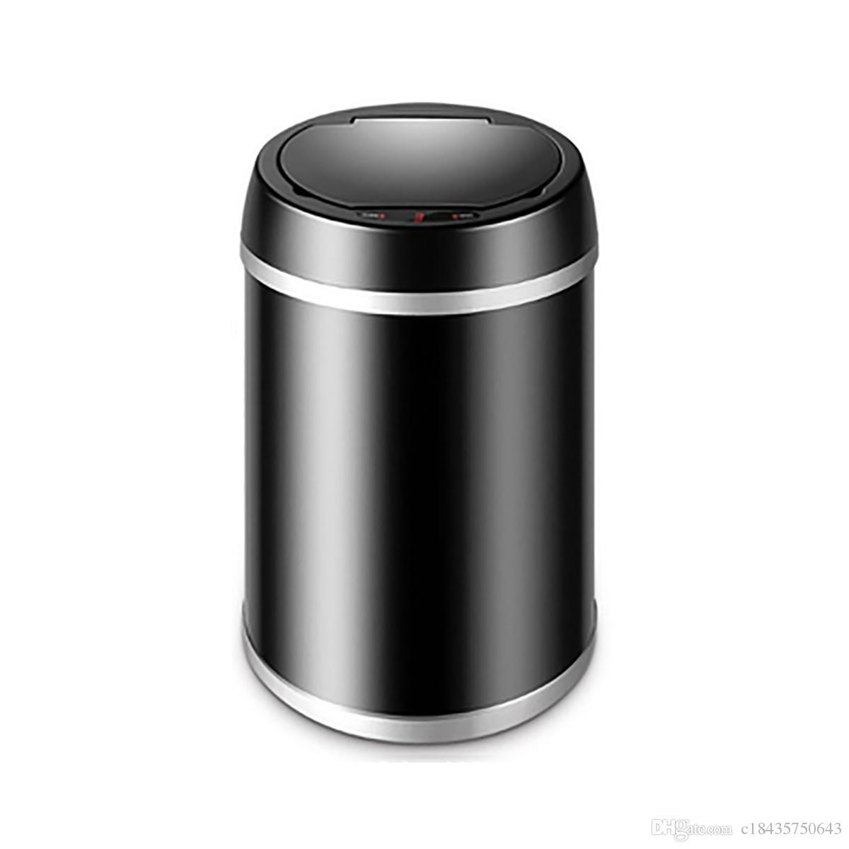 Box Per Bidoni Spazzatura acquista bidone della spazzatura intelligente senza sensore bidoni della  spazzatura automatica con cilindro interno senza coperchio del circolatore  a