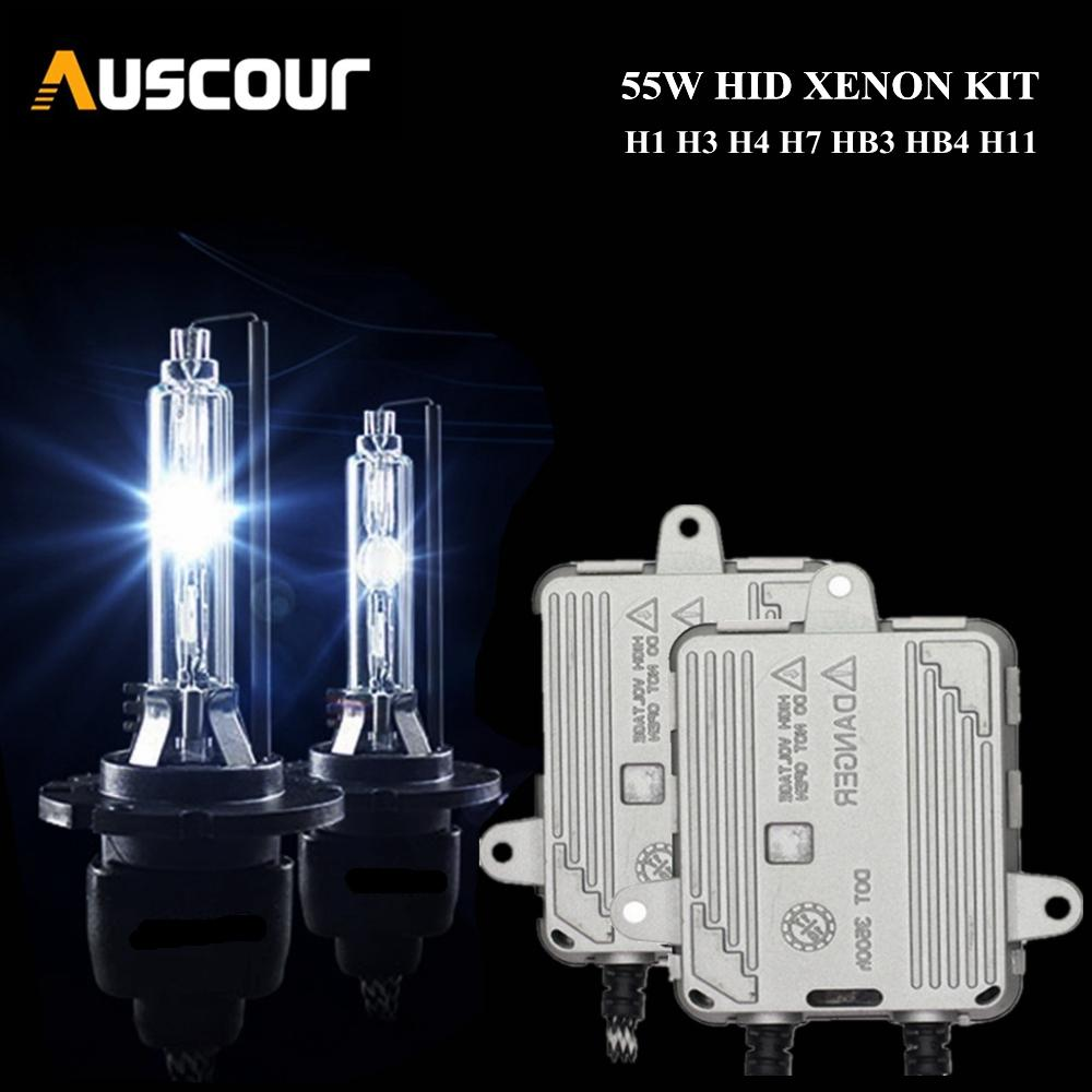 12v 55w Xenon white 6000k look Head light Fog light bulbs Choice of H1 H3 H4