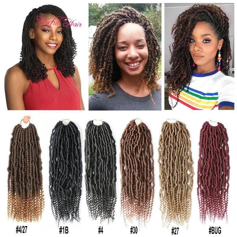 2020 bob marley hair Bomb twist braiding hair 14inch synthetic ombre bug bulks extension cheveux ombre box braids hair black women