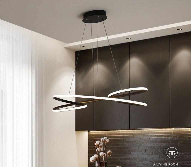 Modern Led pendant lights for dining room kitchen room bar shop black or white color led pendant lamp free shipping MYY