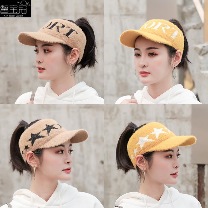 Autunno / inverno versione coreana del ricamo lettera centinaio di cappello a cilindro vuoto, hairplus più velluto berretto da baseball sportsbaseballcap
