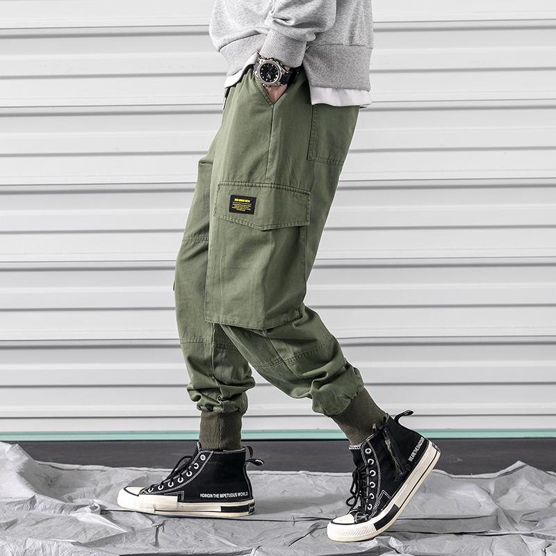 M-3XL 2019 Spring Track Pants Men Sweatpants Mens Joggers Pants Cargo Camo Tactical Harem Pantalon Chandal Hombre
