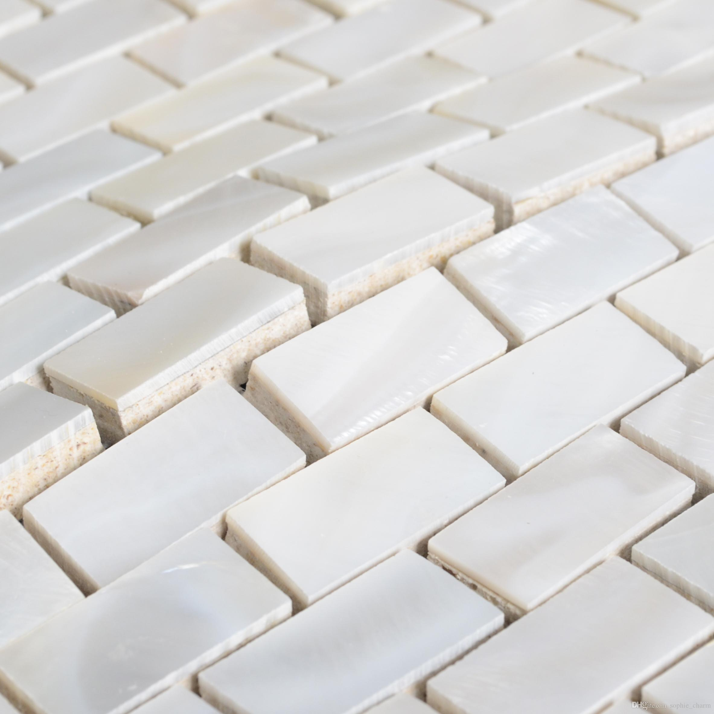 15x30mm brick white Mother of pearl bathroom tiles MOP129 pearl shell wall tiles backsplash kitchen