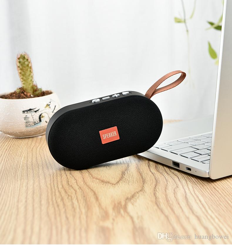 Portable Outdoor Bluetooth Speaker with Hook and Radio Card Speaker u Mobile Wireless Mini Audio