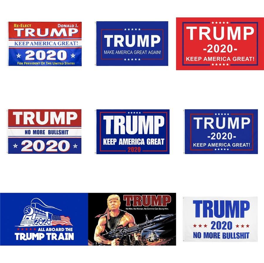 Flags Donald John Trump Amercia New Polyester 90*150Cm Head Metal Grommet Personality Decortive Trump Banner Flaghot Can Cucstom #558