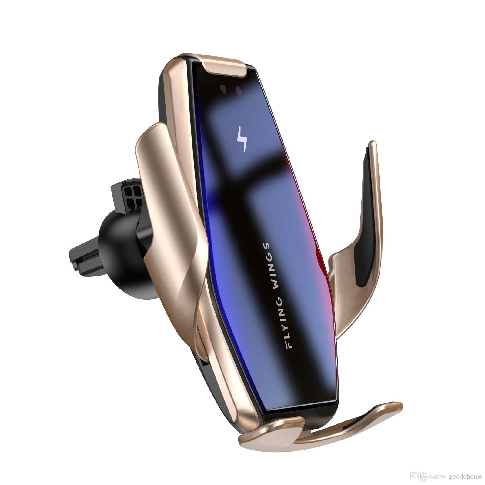 S7 automático de aperto Qi 15W carregador de carro rápido sem fio para Samsung S10 S9 S8 Nota 10 9 Air Vent Mount Phone Holder
