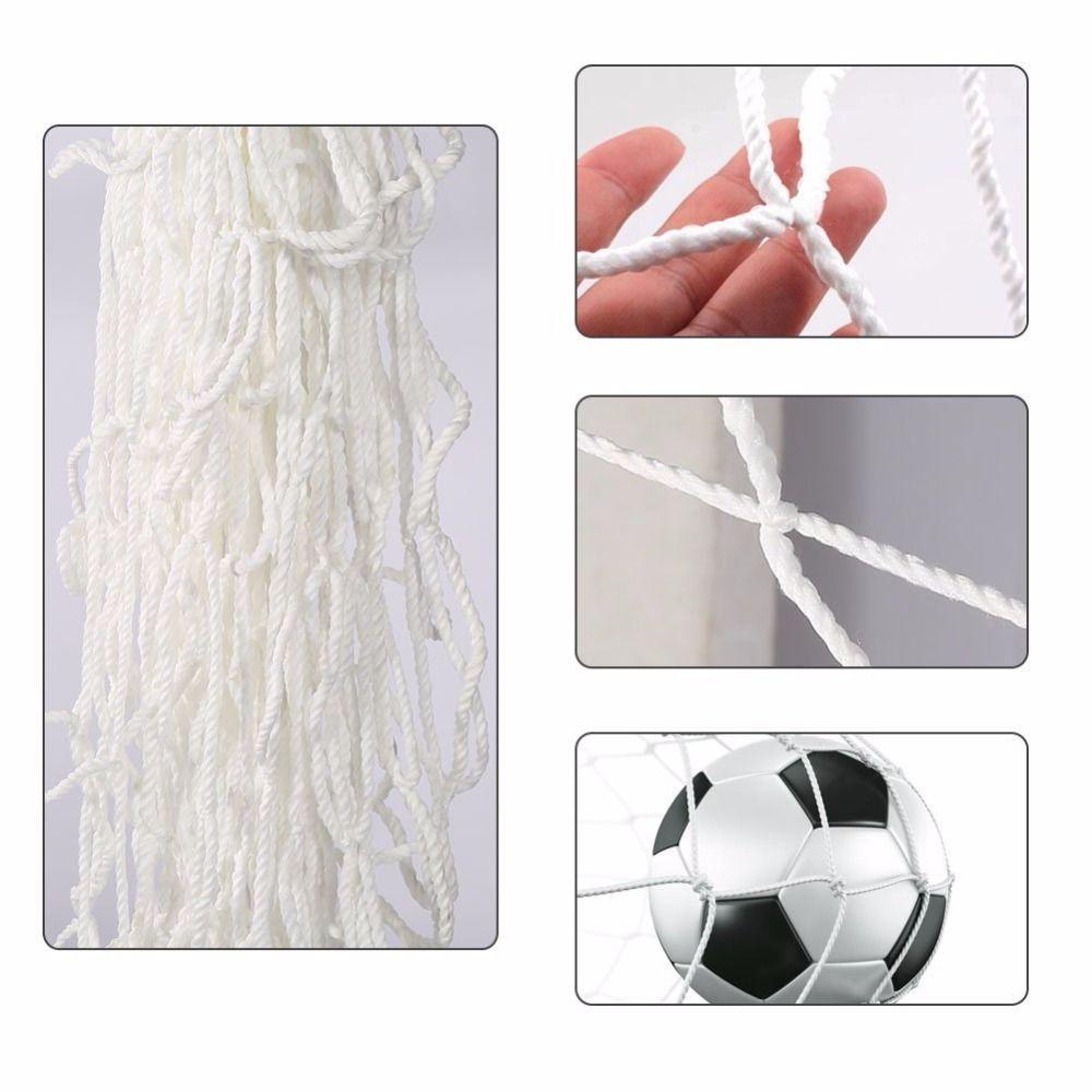 Balón de fútbol Goal Net Redes de fútbol Malla de polipropileno para puertas Entrenamiento Postes de redes Tamaño completo (solo redes)