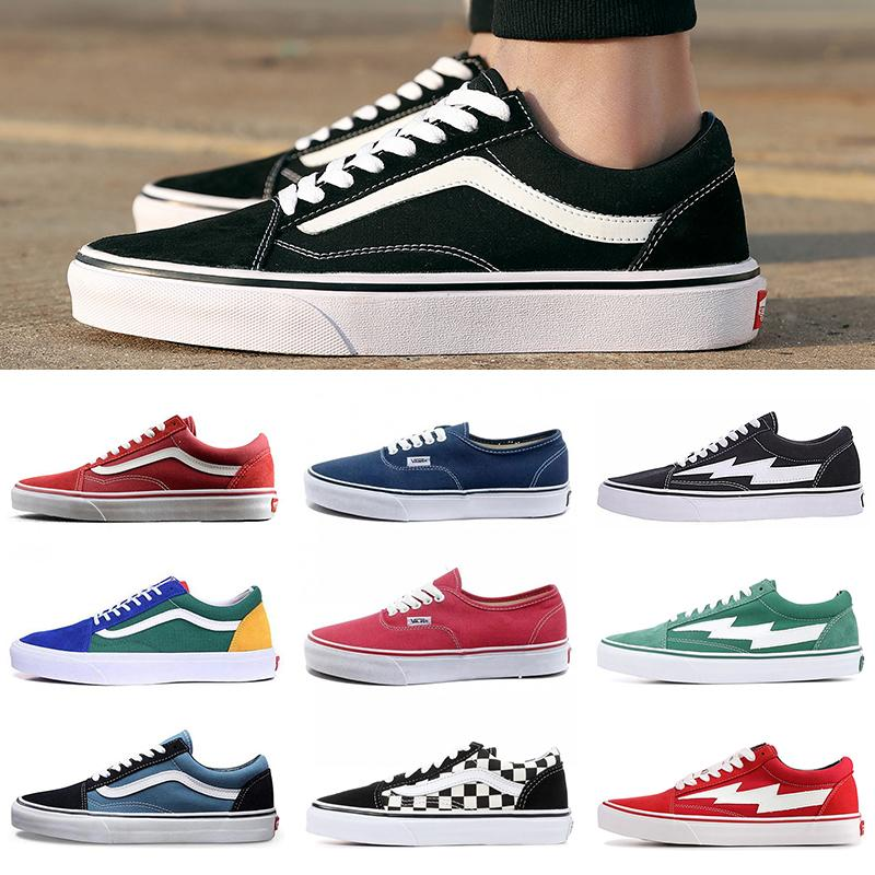 Wholesale Van OFF THE WALL Canvas Shoes Old Skool fear of god Classsic Slip-on Skateboard Shoes SK8-HI Yacht Club Revenge X Storm Sneakers
