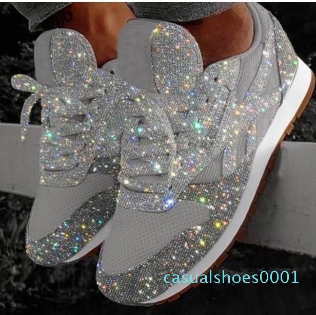 النساء احذية بلينغ الأوتاد سميكة وحيد الارتفاع زيادة أحذية مكتنزة منصة معالج بالكبريت السيدات متعطل المطاط Zapatos دي موهير C01