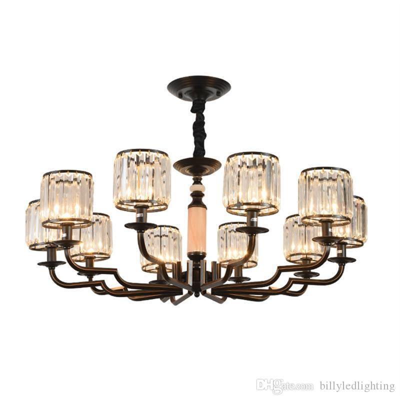 cristallo moderno lampadario europea lampada soggiorno atmosfera di fascia alta di ferro americano lampade villa lampada