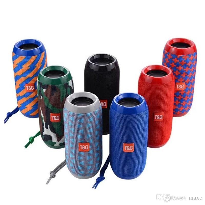Bass Wireless Bluetooth Speakers TG117 Wireless Waterproof Portable Outdoor Mini Column Box parlante boombox Loudspeaker AUX 10W Mini Column