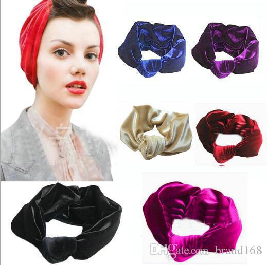 12 pçs / lote Bonito pleuche Elástico Absorver o suor Mulheres Boho Cabeça de Cabelo Wraps Acessórios Moda No Slip Wide yoga esportes Hairband Headbands