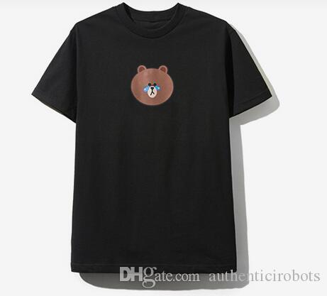 Anti Social Social Club x Line Friends Brown Bear White Hoodie Size S M L XL