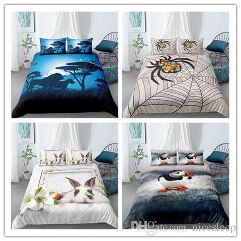 2020 bed creativo Immagine Insieme dell'assestamento 2 / 3Pcs / Set copripiumino Regina Full Size