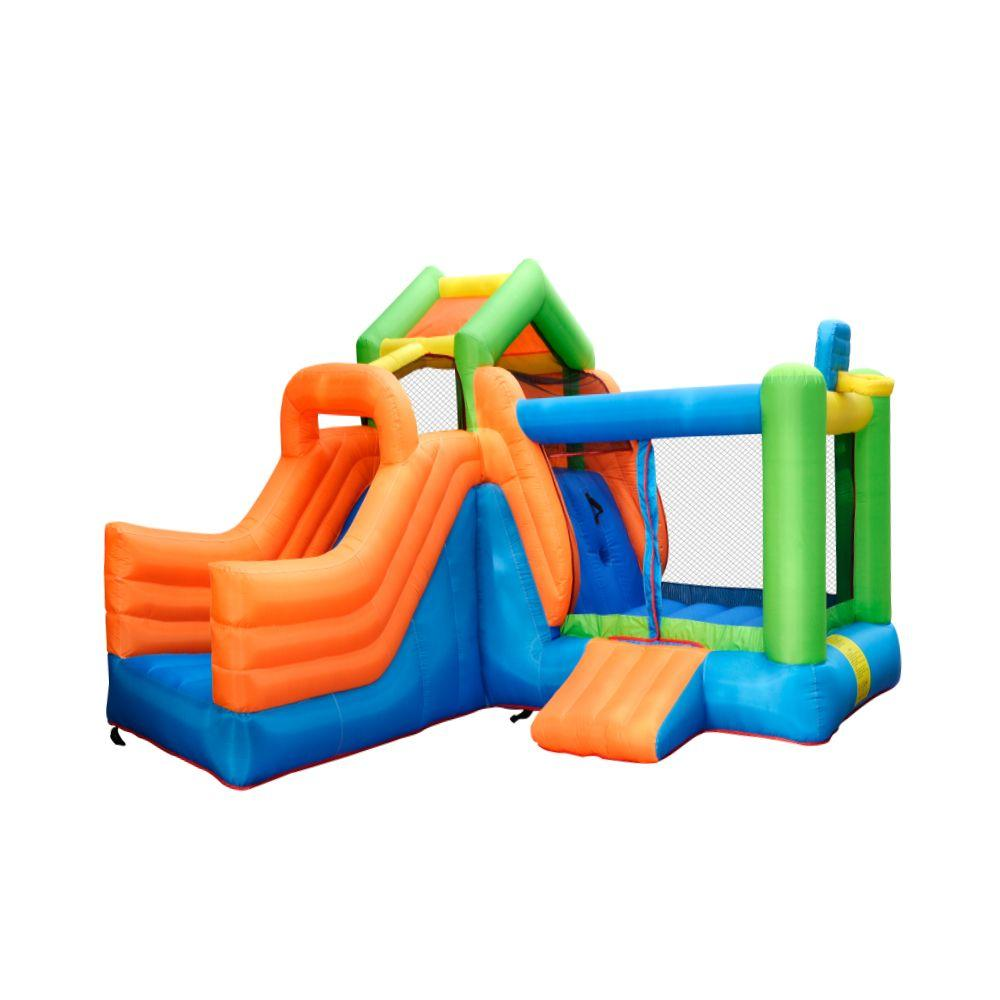 Commercial Inflatable Combo Bouncers Sale Funny Dry Slide Climbing Playhouse Slide Castle Inflatable Bouncer With Basketball Hoop Air Blower