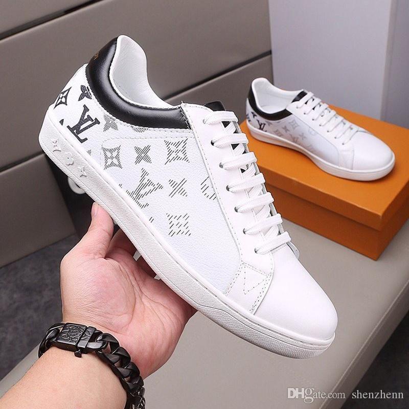 Louis Vuitton LV Chaussures de mode de luxe pour hommes Chaussures de course Flats Casual Tennis Comfort Trendy Lace-Up Top Qualité Luxembourg Sneaker Type de mode Chaussures