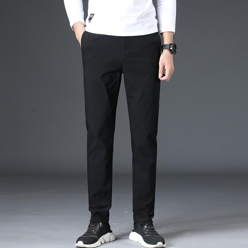 Men/'s Slim Fit Skinny Pencil Pants Business Formal Suit Dress Casual Trousers US