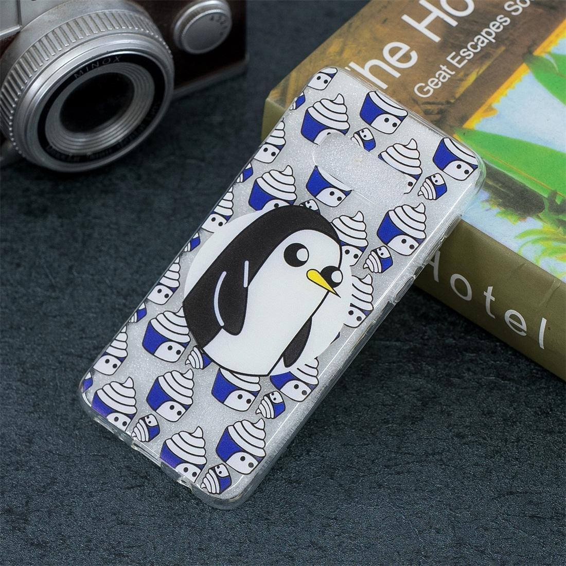Penguin Pattern Transparent TPU Protective Case for Galaxy S10e