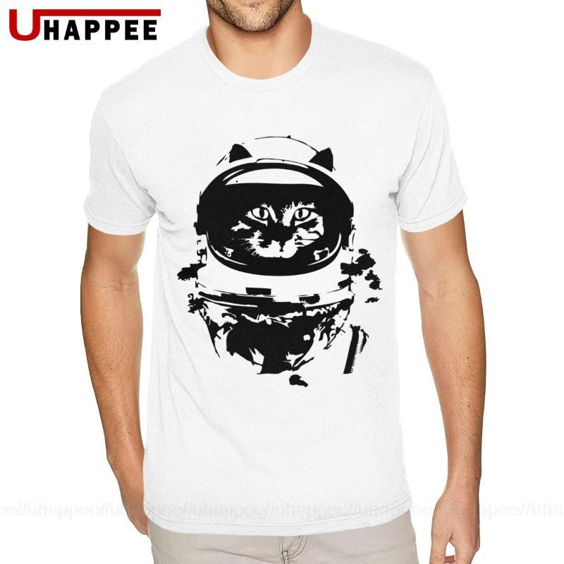 Cat T do espaço adolescentes América Camiseta Homem Manga Curta desconto Vestuário Oficial