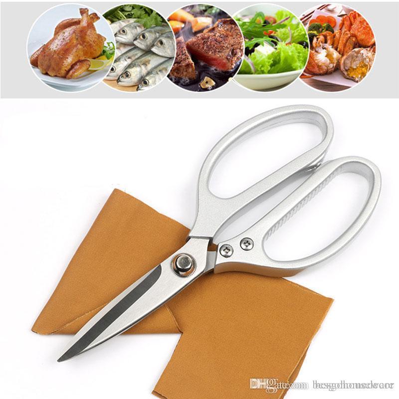 Cozinha Tesoura Food Multifunction Aluminium Handle Poultry Chicken Bone peixe forte Shears Principal Utilize Legumes Comida Scissors BH1462 TQQ