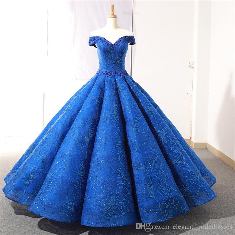 Dubaï Designer épaules sexy robe de bal Robes de bal haut de gamme manches pailletée arabe mariée Appliques robe de soirée robe de soirée
