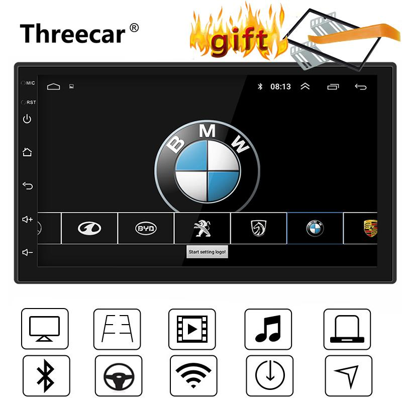 """7 """"보편적 인 GPS 항법 Bluetooth 2 Din Car Radio 인조 인간 8.1 Wi-Fi 자동차 오디오 입체 음 FM USB MP5 선수 autoradio"""