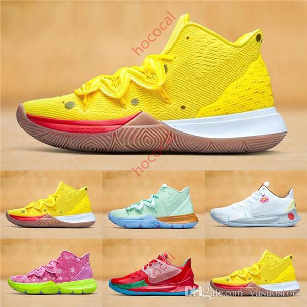 Spor ayakkabılar yüksek ayak bileği eğitim toptan hococal Boys Çocuk Kyrie V 5 All-Star Basketbol Ayakkabı Irving 5S Erkekler Gençlik Kızlar Kadınlar Yakınlaştırma Spor
