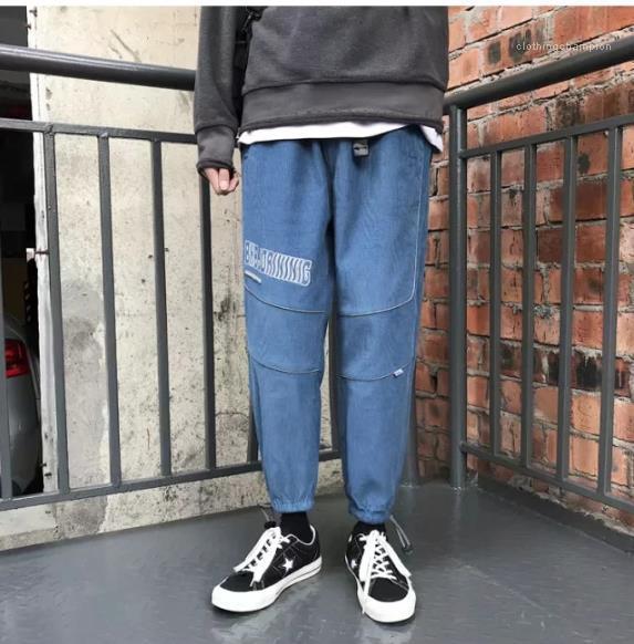 Lettre Imprimer Pantalons en vrac lambrissé réfléchissant la lumière Homme Vêtements pour hommes Designer Pantalons Sport Mode Crayon