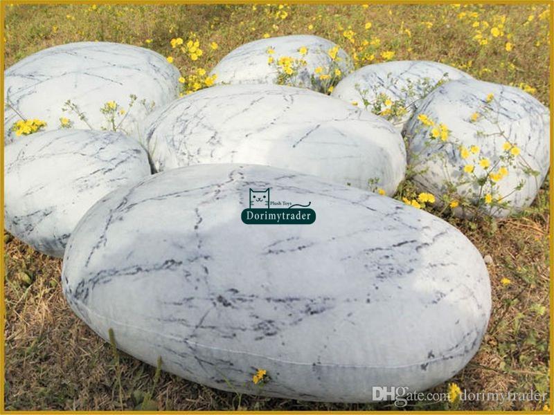 Dorimytrader ein SET (6 Stücke) Natürliche Form Kissen Große Gefüllte Weiche Simulierte Quecksilber Stein Kissen Mit Baumwolle freies Verschiffen DY61072
