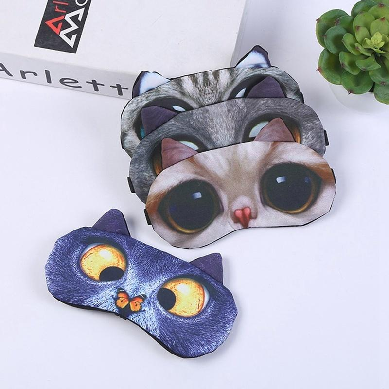 Funny Animal 3D Dogs Cats Eye Face Mask 1 Pcs Lovely Cute Traveling Eyeshade Eye Cover Sleeping Masks Eyepatch Goggles