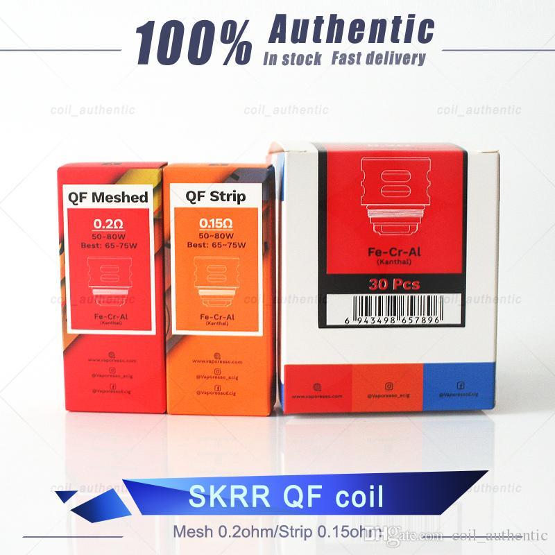 SKRR tanque bobina SK 0.5ohm QF QF Meshed 0.2ohm Tiras Bobinas 0.15ohm Para Luxe 100% auténtico