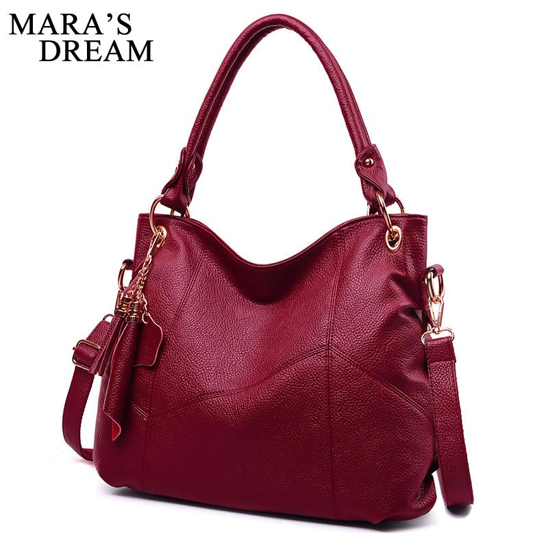 Mara's Dream 2020 New Ladies Big Bag Spring Fashion Handbag Horizontal Section Square Shoulder Diagonal Female Bag