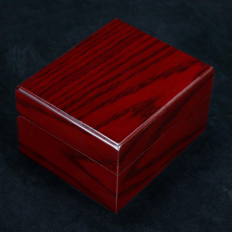 الجديدة الراقية النبيذ الخشب الأحمر ووتش الحبوب مربع وسادة التعبئة والتغليف هدية مربع الشحن مجانا مخصصة
