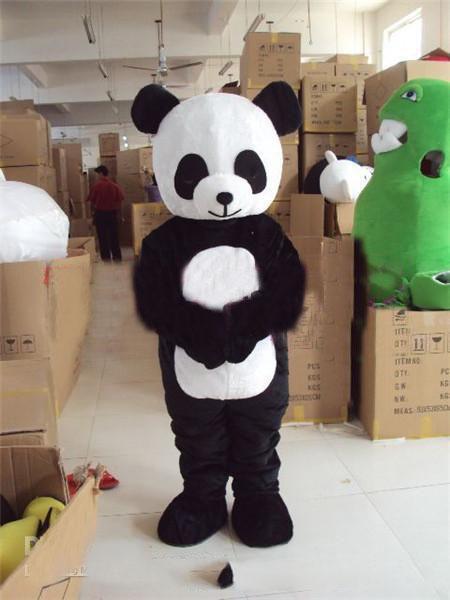 2020 Panda Bear costume della mascotte di formato adulto dei costumi di Halloween del vestito operato degli animali trasporto libero di SME