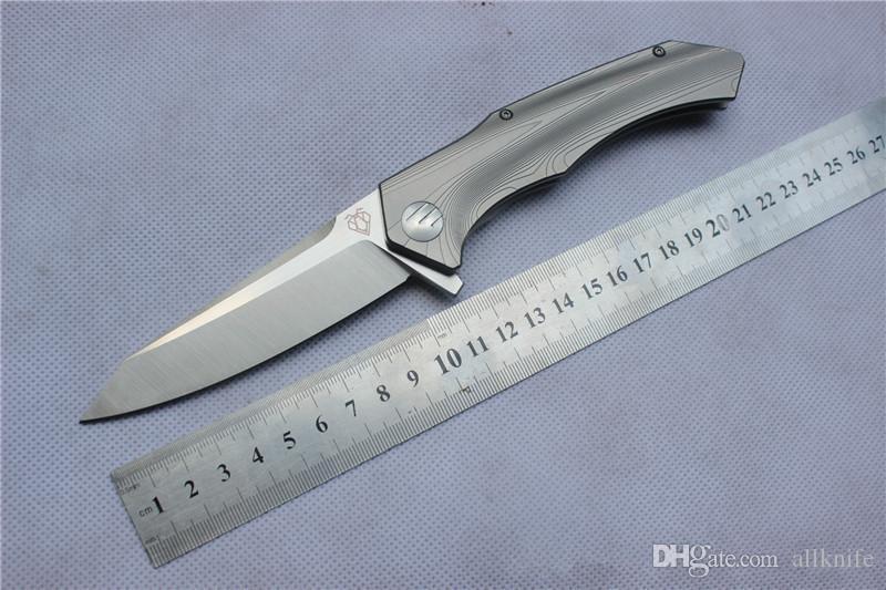 VESPA coltello di alta qualità, lama: S35VN (Stone Wash / satinato), Maniglia: TC4 piano di appoggio di campeggio della lama pieghevole esterna EDC, trasporto libero