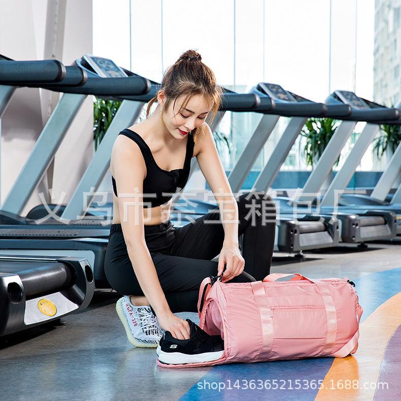 Sport e fitness sacchetto impermeabile di nuoto del sacchetto bagnato e deposito borse portatile di grande capacità di separazione secco pacchetto di formazione femminile di yoga