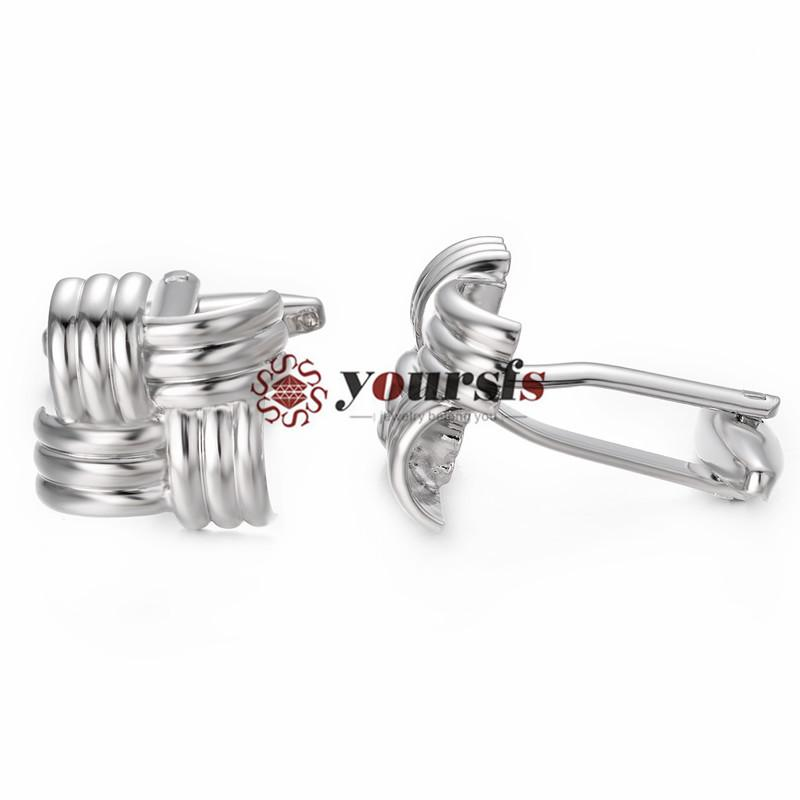Yoursfs Men Cufflinks French Fashion Knot Design Silver Party Shirt Anniversary Gift