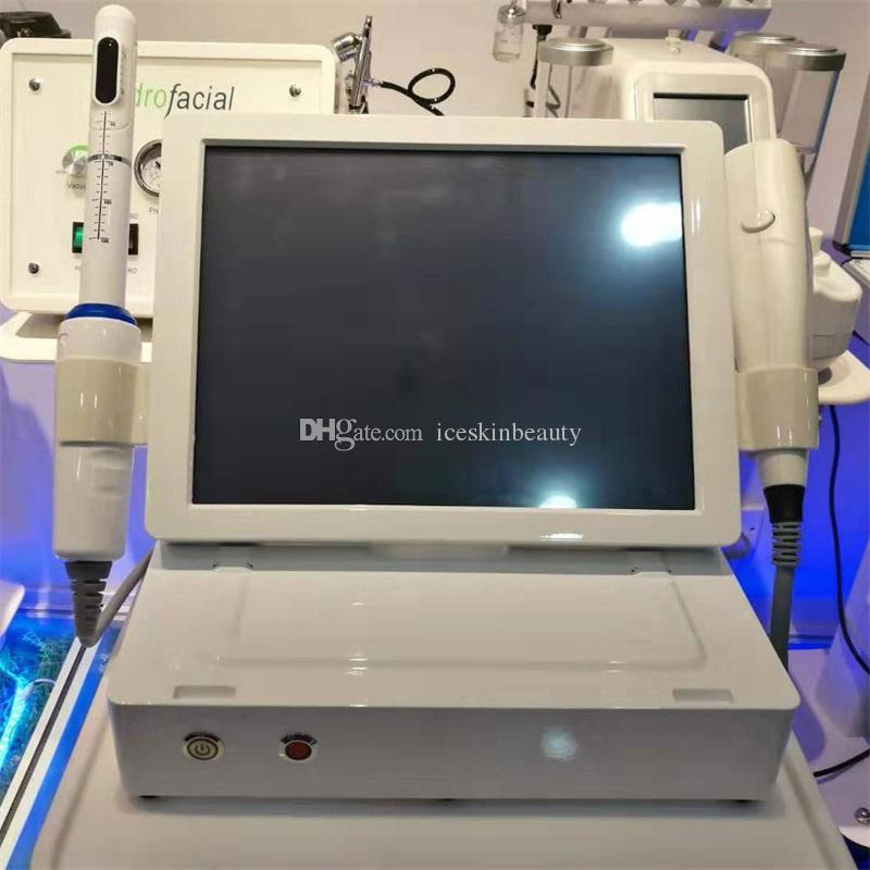Mais novo 3 em 1 3D HIFU Máquina Face Lift Vaginal aperto remoção de rugas corpo emagrecimento privados Cuidados 12 linhas 8 cartuchos