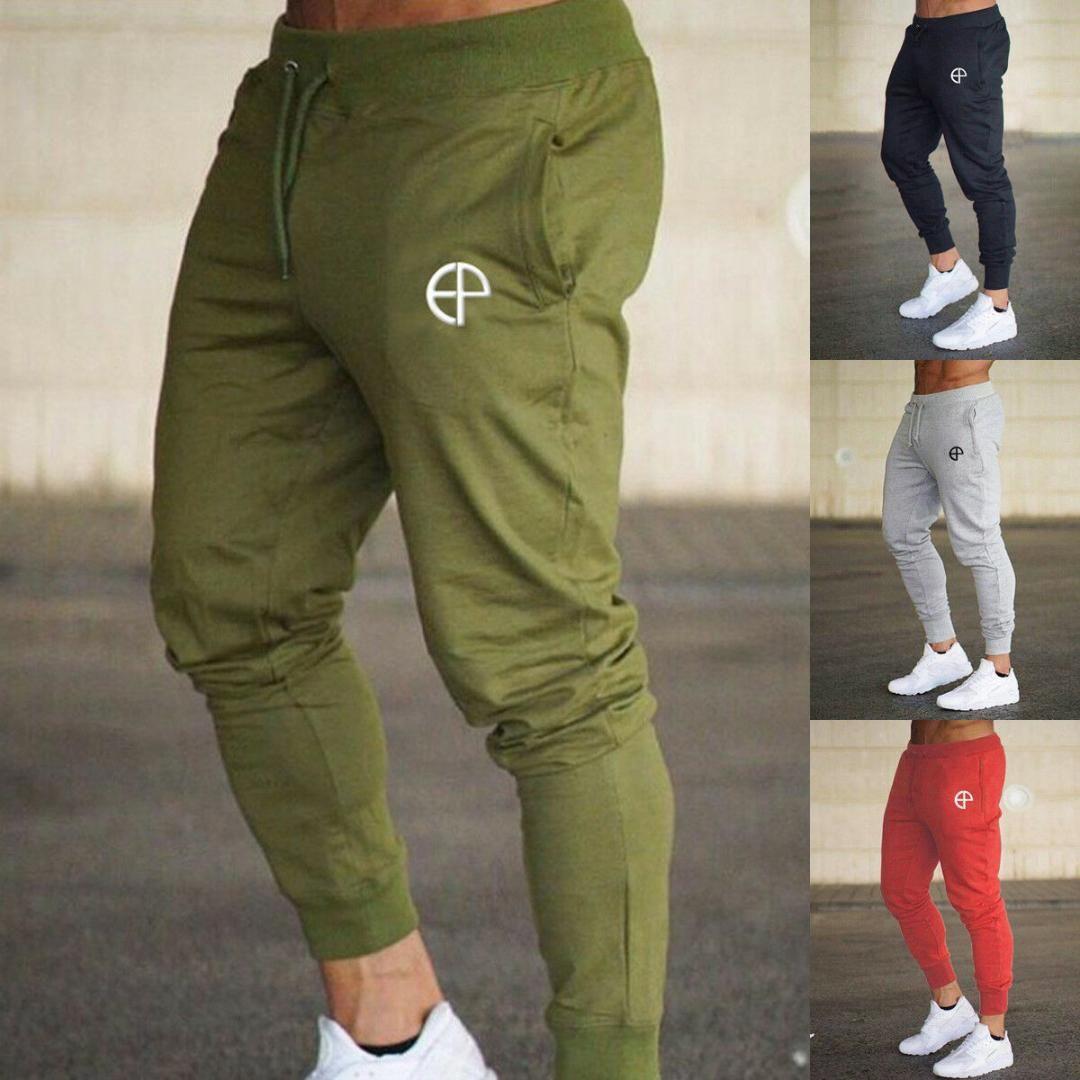 Nuevos Mens adelgazan chándal flaco jogging Joggers pantalones de chándal Pantalones Casual Harem Pies del ajustado